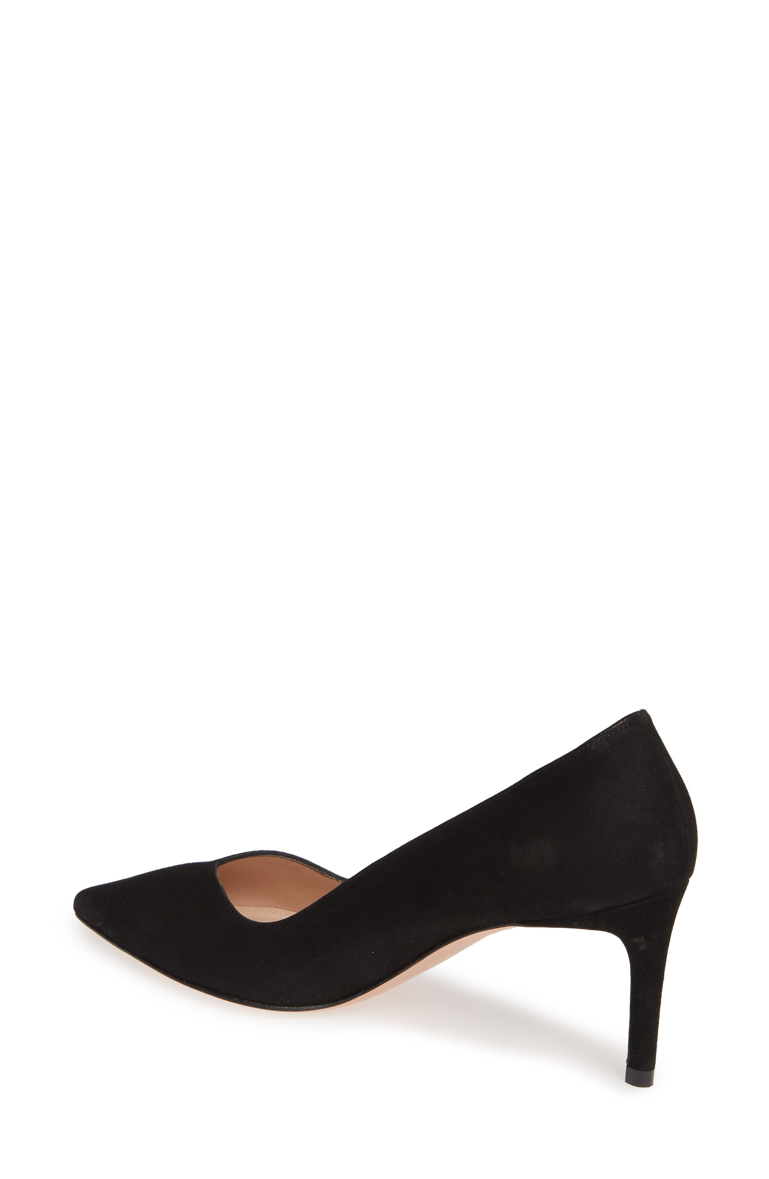 ,                             Anny Pointy Toe Pump,                             Alternate thumbnail 2, color,                             BLACK SUEDE