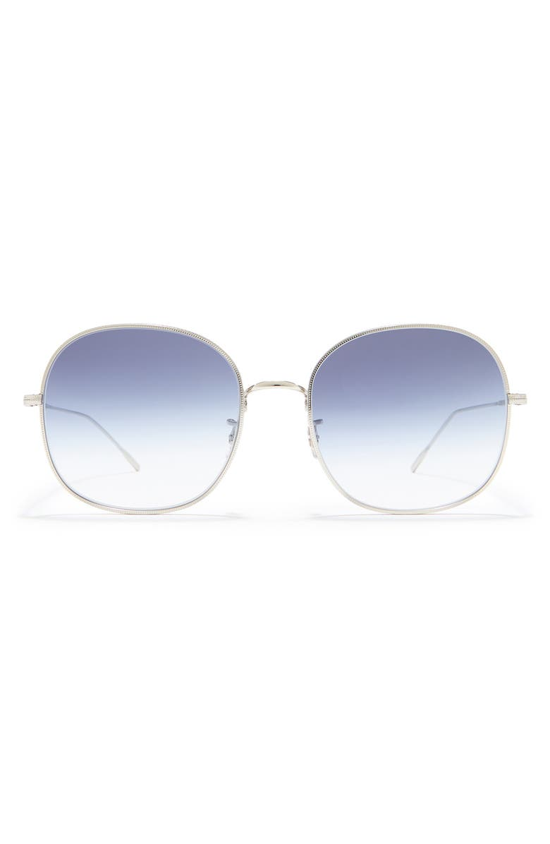 OLIVER PEOPLES Mehrie 57mm Gradient Round Sunglasses, Main, color, SILVER/ BLUE GRADIENT