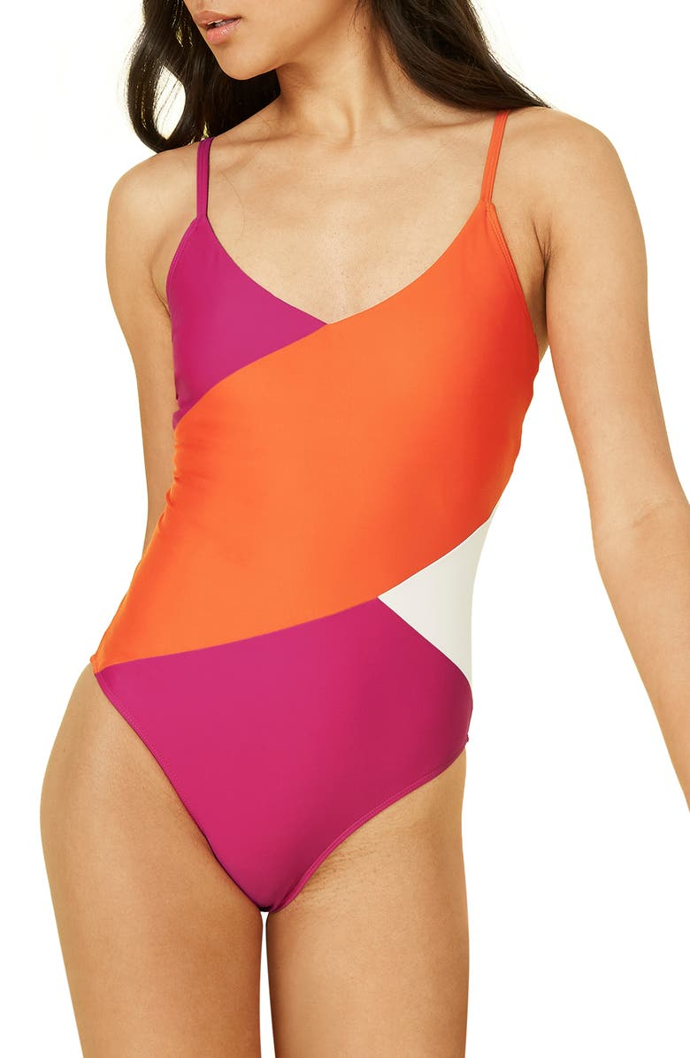 SUMMERSALT The Marina One-Piece Swimsuit, Main, color, PURPLE