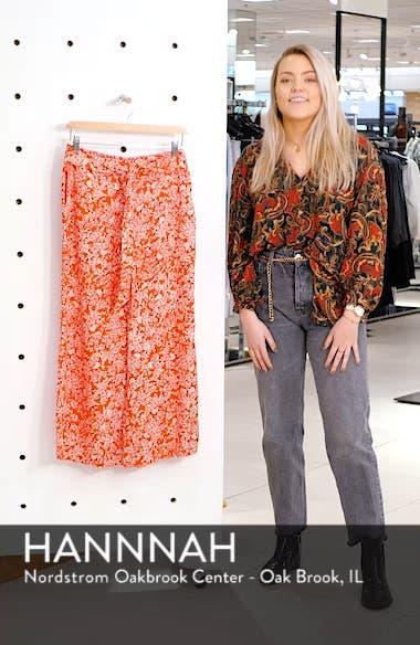 Print Wide Leg Crop Pants, sales video thumbnail