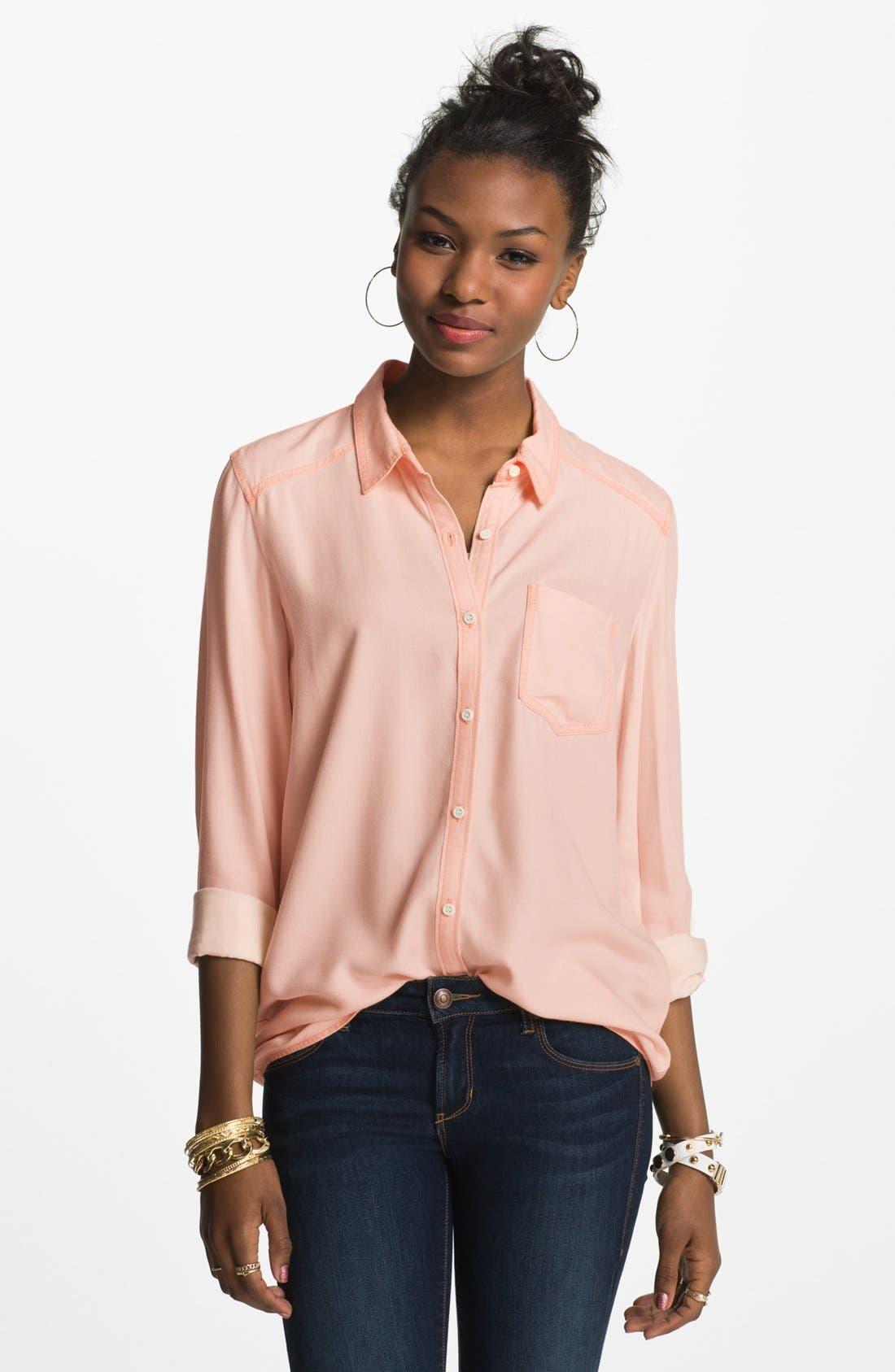 ,                             Rubbish Oversized Menswear Shirt,                             Main thumbnail 21, color,                             650