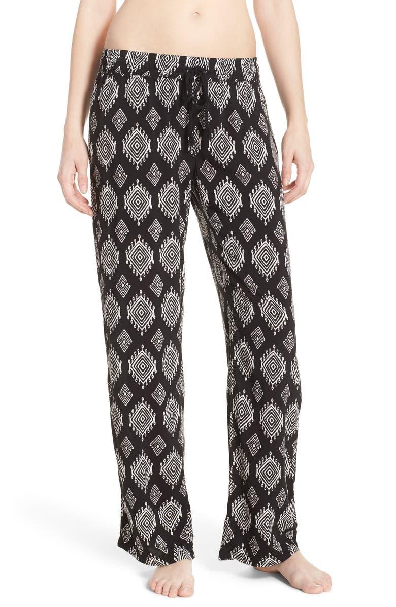 PJ SALVAGE Print Pajama Pants, Main, color, 001