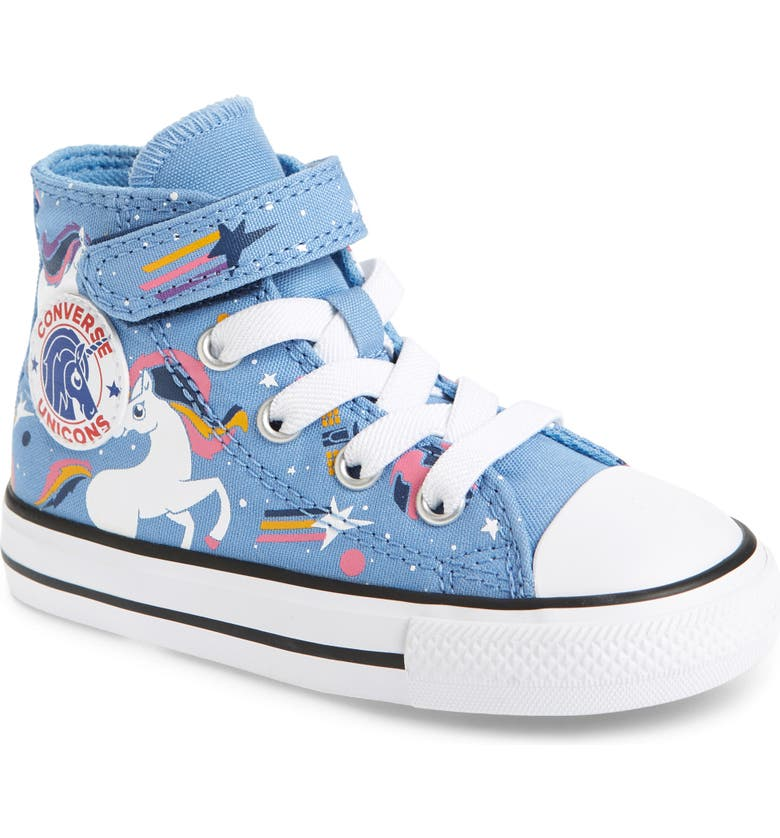 CONVERSE Chuck Taylor<sup>®</sup> All Star<sup>®</sup> 1V Unicorn High Top Sneaker, Main, color, LIGHT BLUE/ BLACK/ WHITE