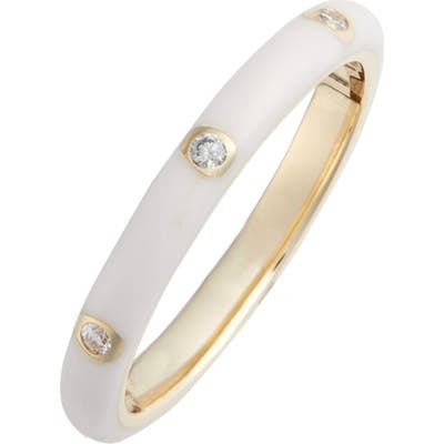 Ef Collection Diamond Enamel Stacking Ring