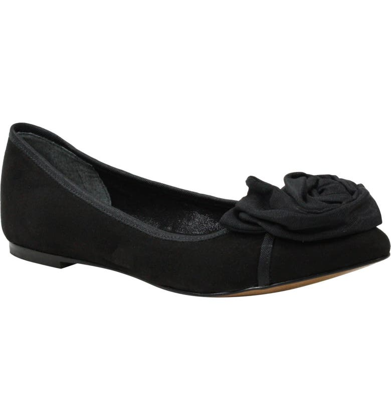 J. RENEÉ Baylynn Skimmer Flat, Main, color, BLACK SUEDE