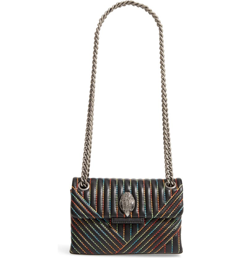 KURT GEIGER LONDON Mini Kensington Leather Crossbody Bag, Main, color, BLK/OTHER
