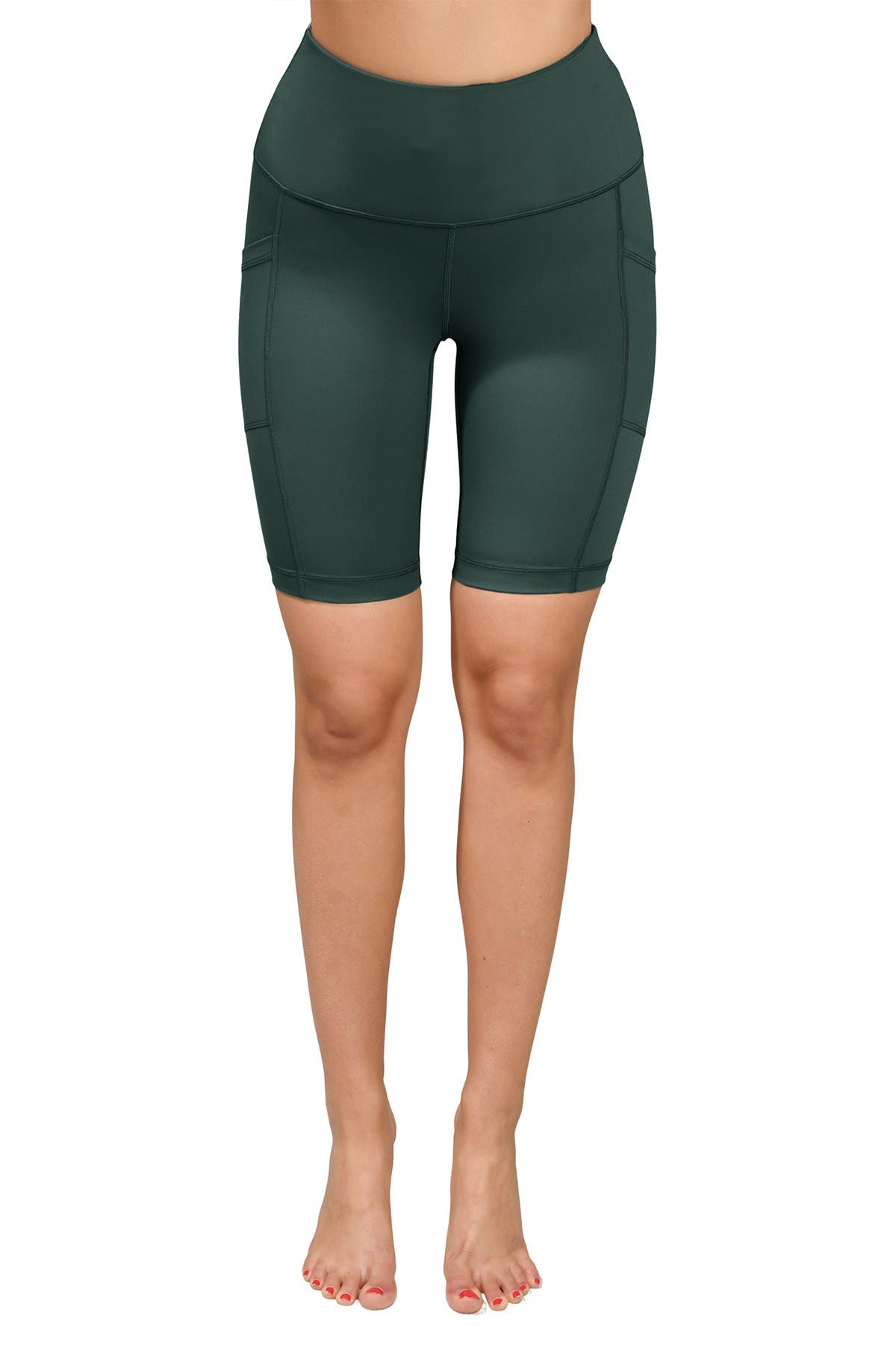 Image of 90 Degree By Reflex Lux High Waisted Pocket Biker Shorts