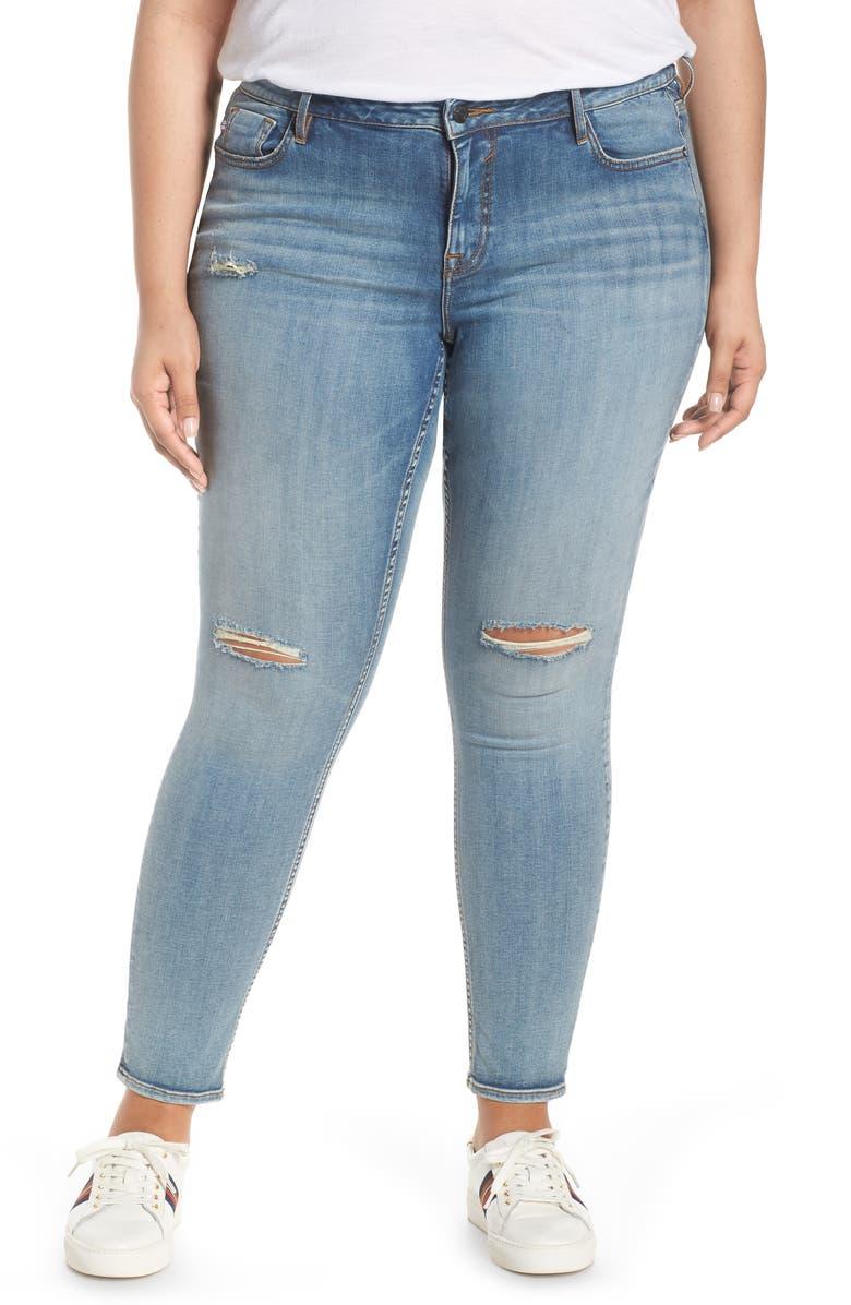VIGOSS Jagger Ripped Skinny Jeans, Main, color, 400