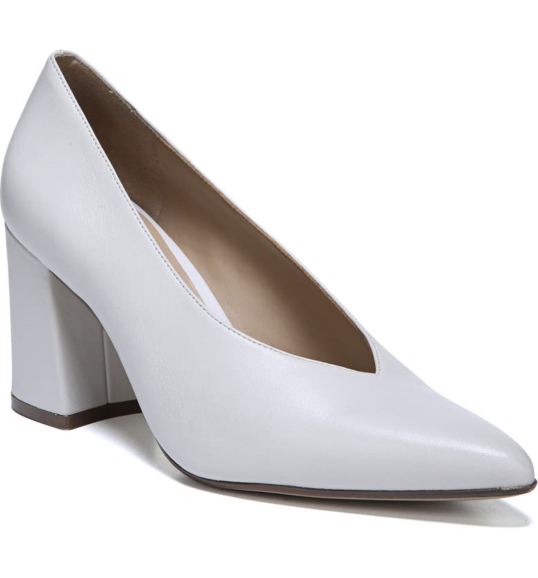 NATURALIZER Hope Pointy Toe Pump, Main, color, WHITE LEATHER
