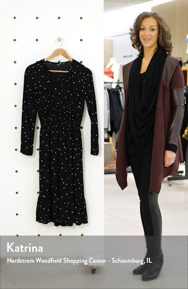 Joy Star Print Long Sleeve Dress, sales video thumbnail
