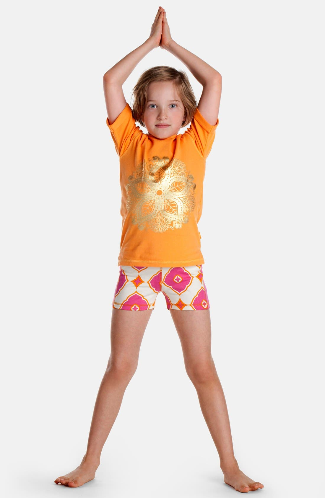 ,                             Masalababy 'India Rose' Organic Cotton Graphic Tee,                             Alternate thumbnail 3, color,                             800
