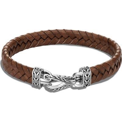 John Hardy Asli Classic Chain Braided Leather Bracelet