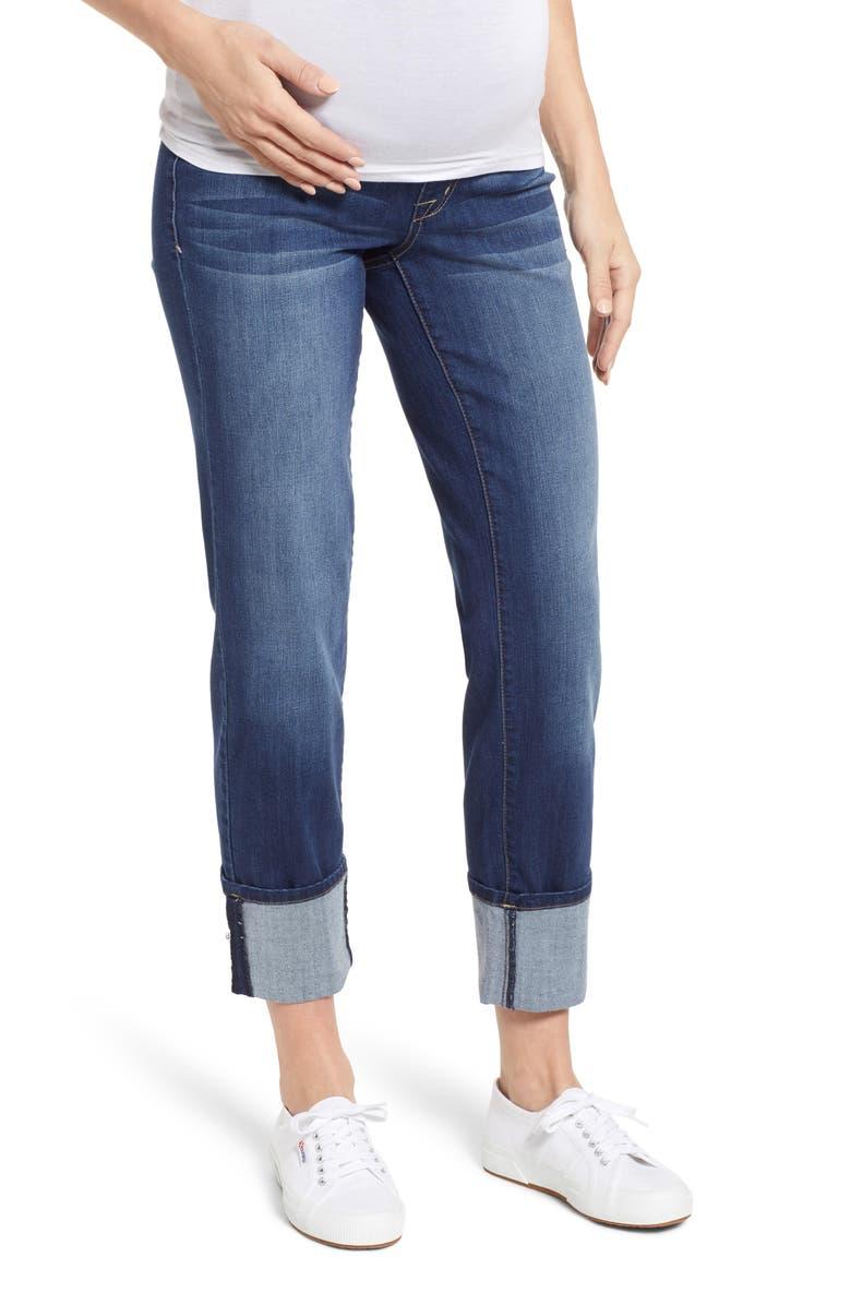 1822 DENIM Cuff Straight Leg Maternity Jeans, Main, color, ZIGGY