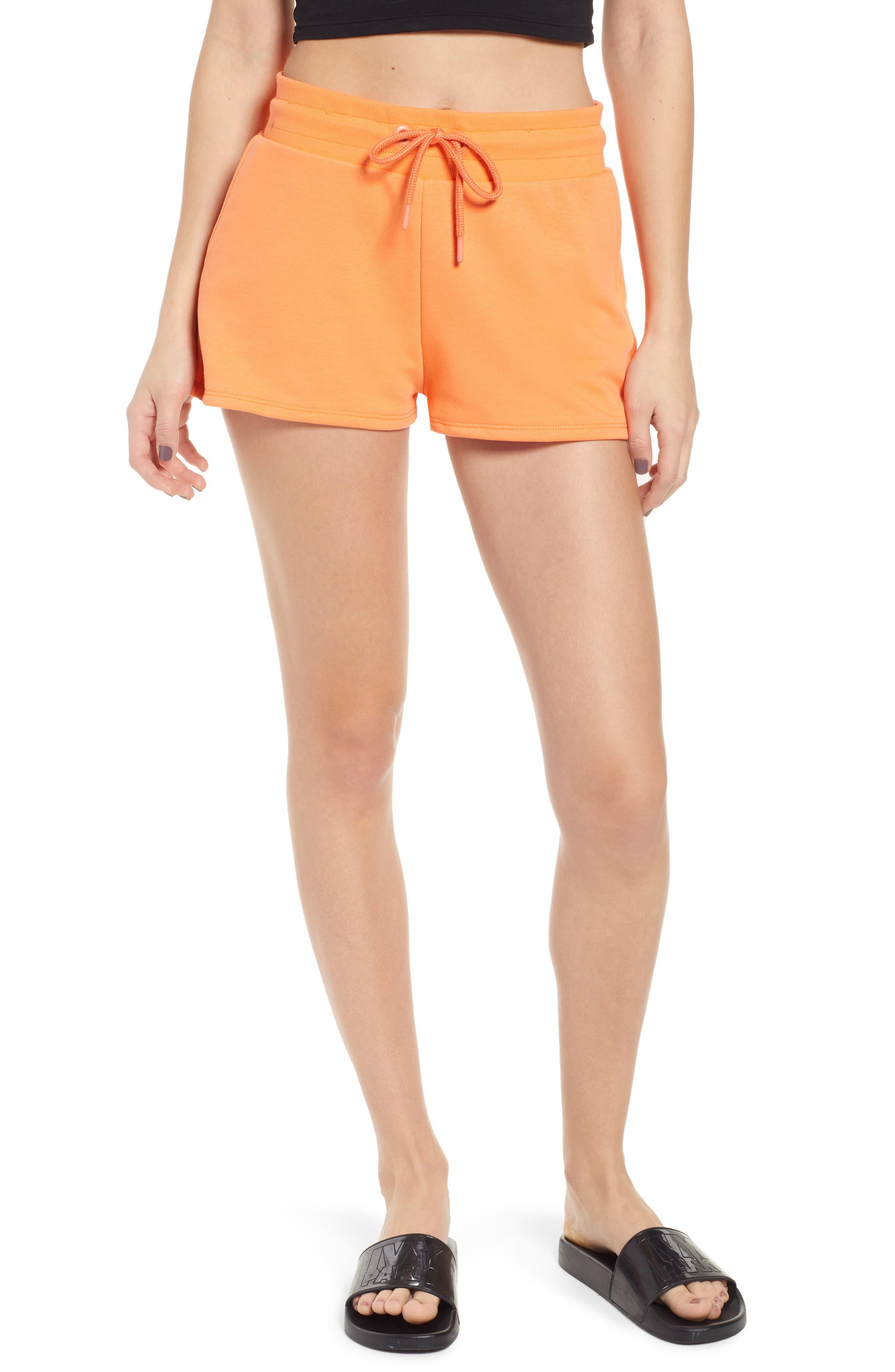 Ivy Park Baseball Stitch Logo Shorts, Orange