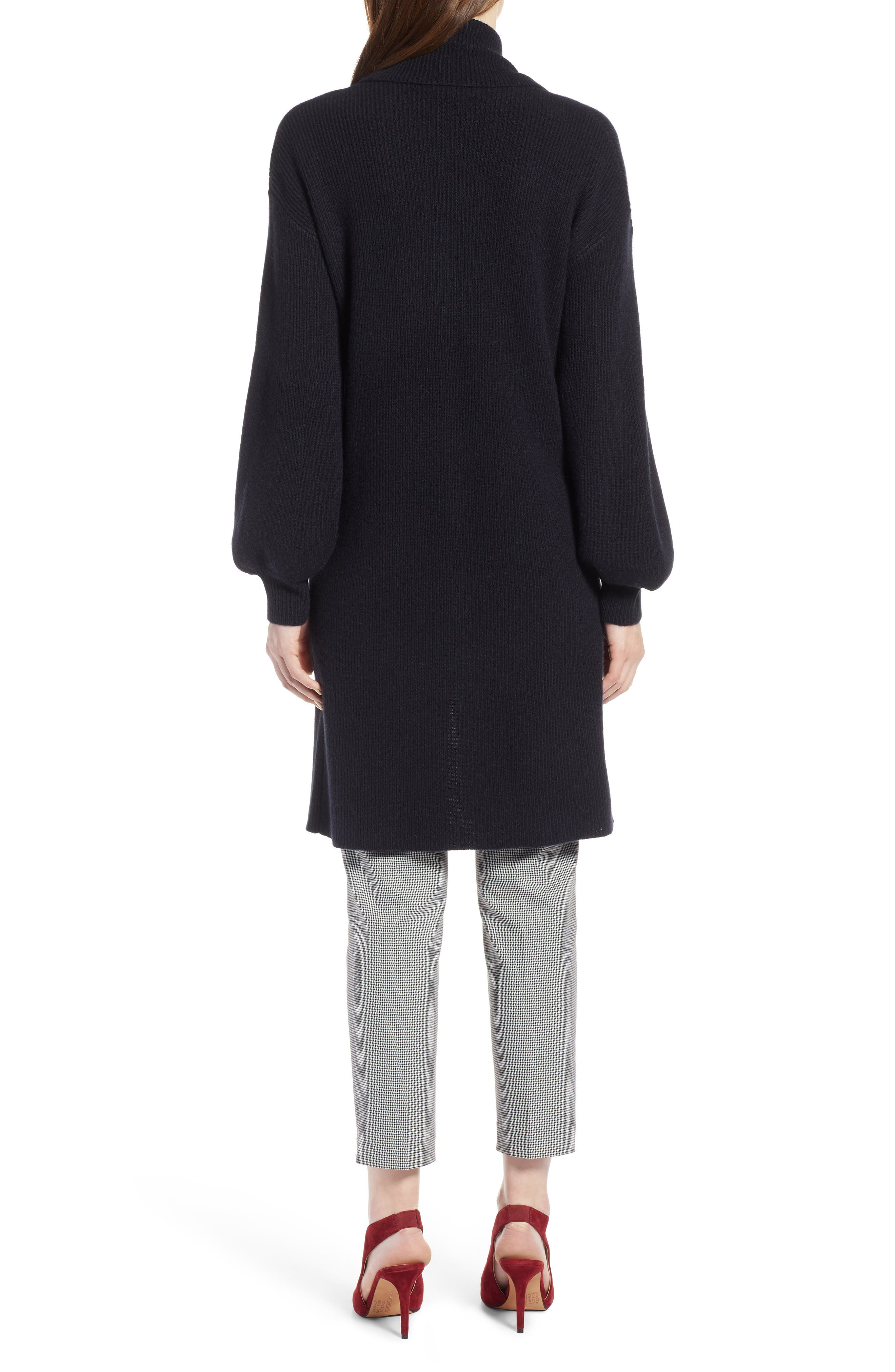 ,                             Blouson Sleeve Long Cashmere Cardigan,                             Alternate thumbnail 10, color,                             002