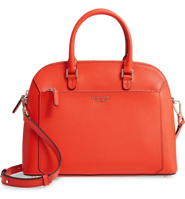 KATE SPADE NEW YORK medium louise leather dome satchel, Main, color, 800