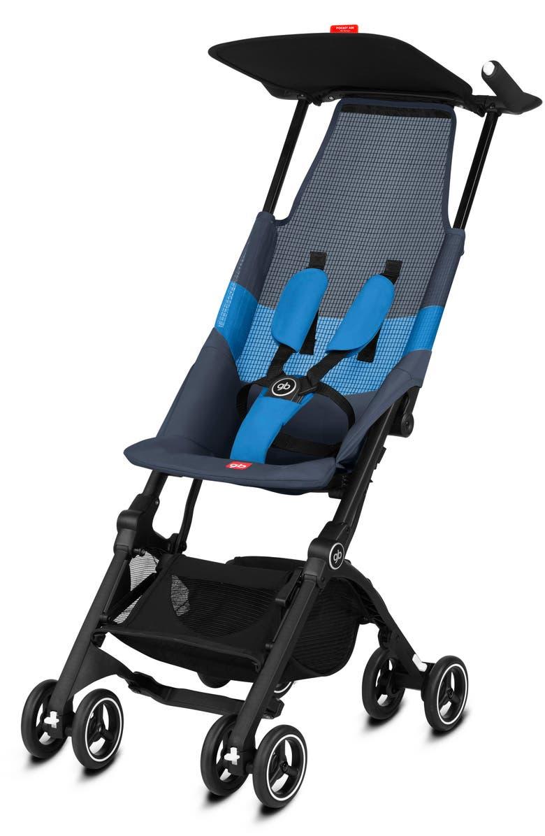 CYBEX gb Pockit Air Stroller with All Terrain Wheels, Main, color, NIGHTBLUE