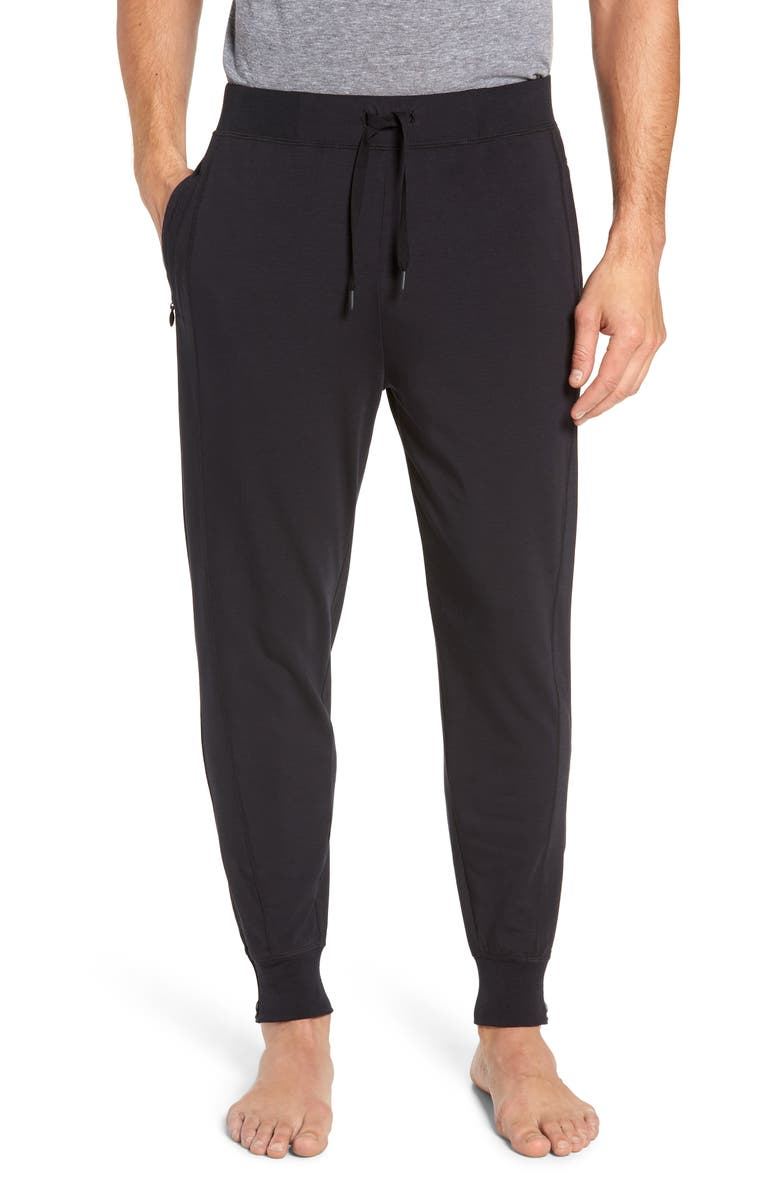 TOMMY JOHN Go Anywhere Jogger Pants, Main, color, BLACK