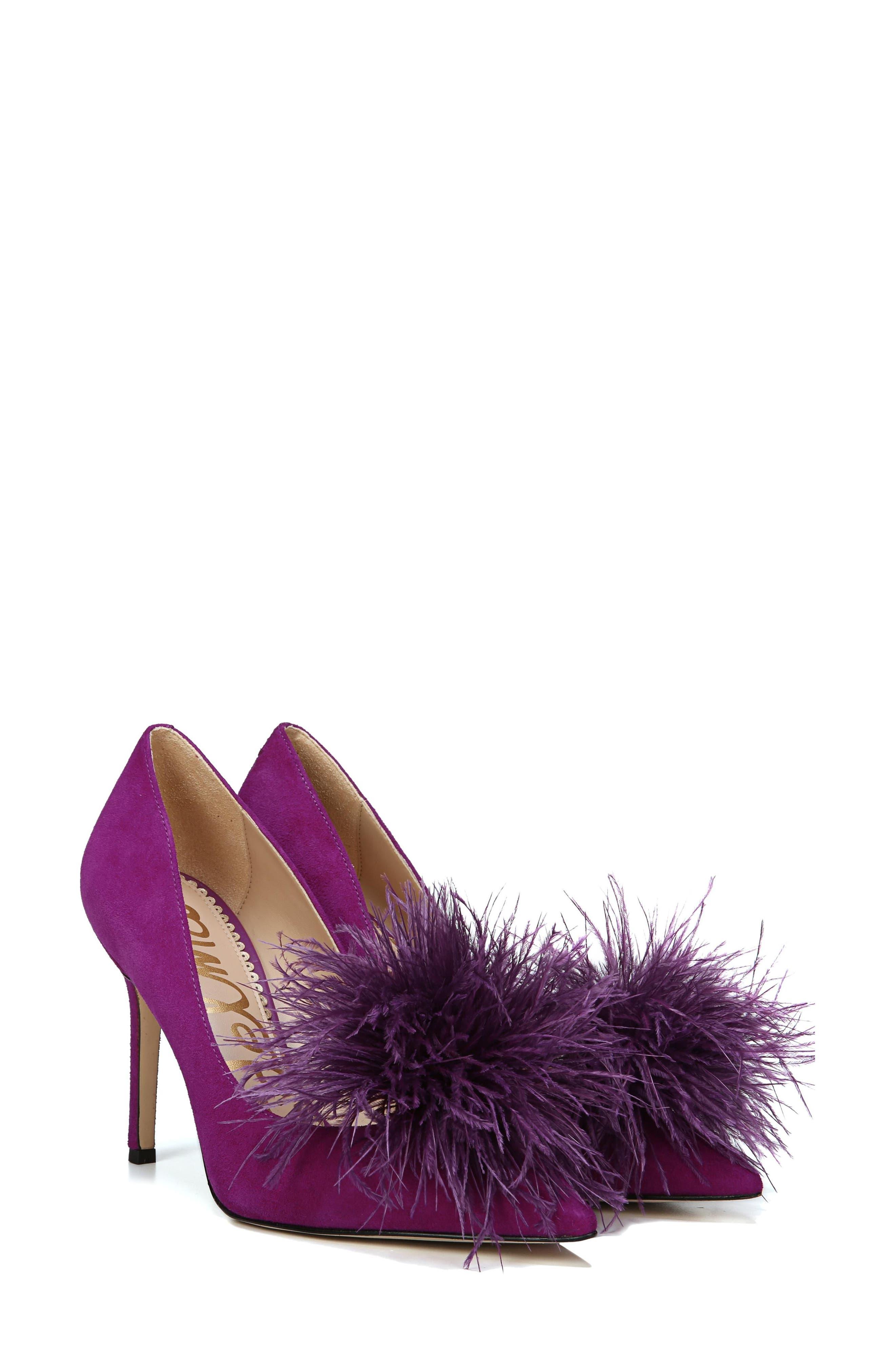 ,                             Haide Feather Genuine Calf Hair Pompom Pump,                             Alternate thumbnail 26, color,                             500