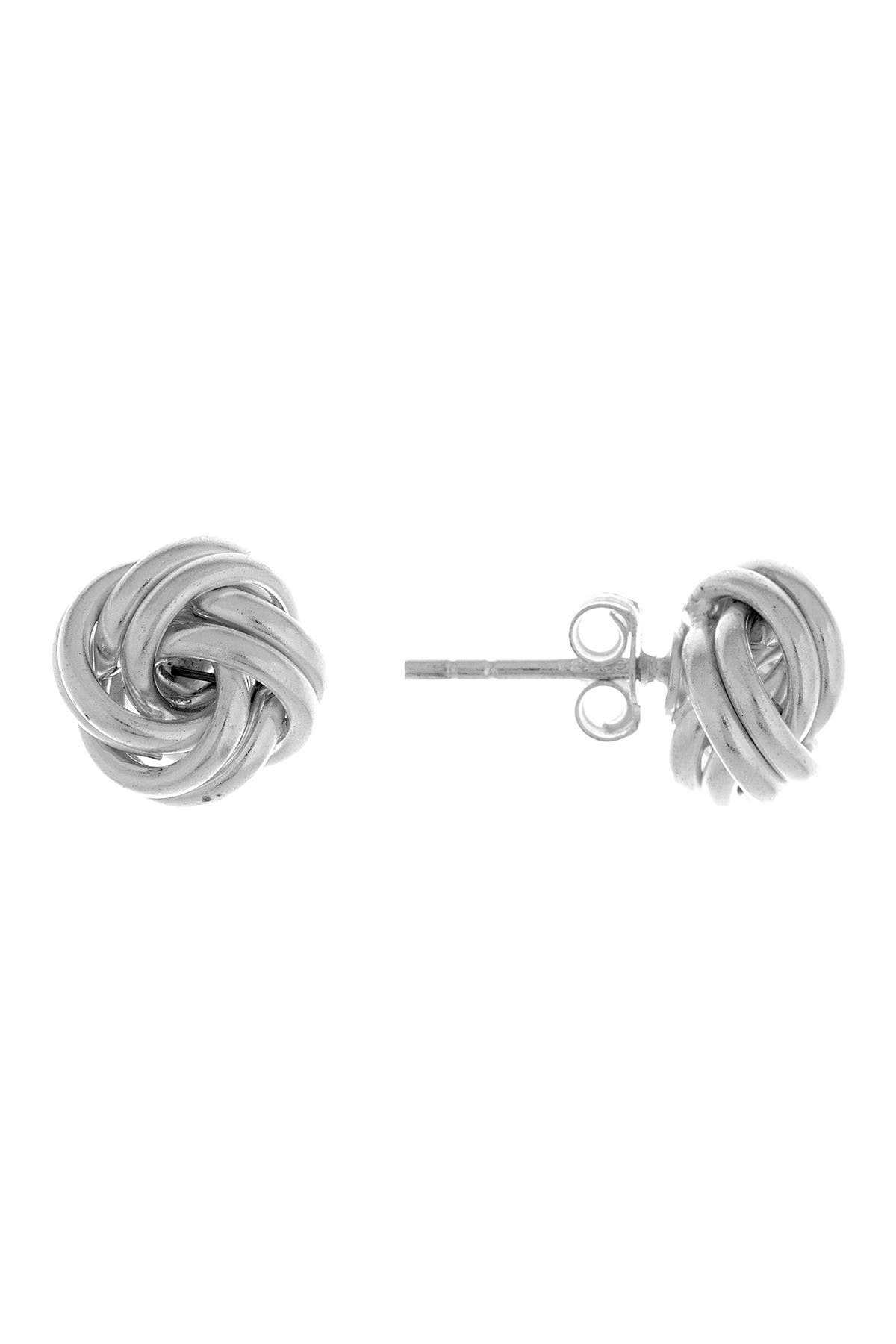 Image of Best Silver Inc. Sterling Silver Love Knot Earrings