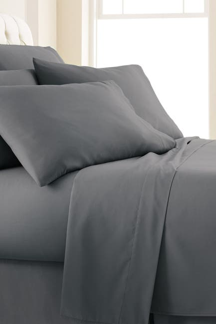 Image of SOUTHSHORE FINE LINENS Queen Sized Southshore Essentials Double Brushed 100 GSM Sheet Set - Slate