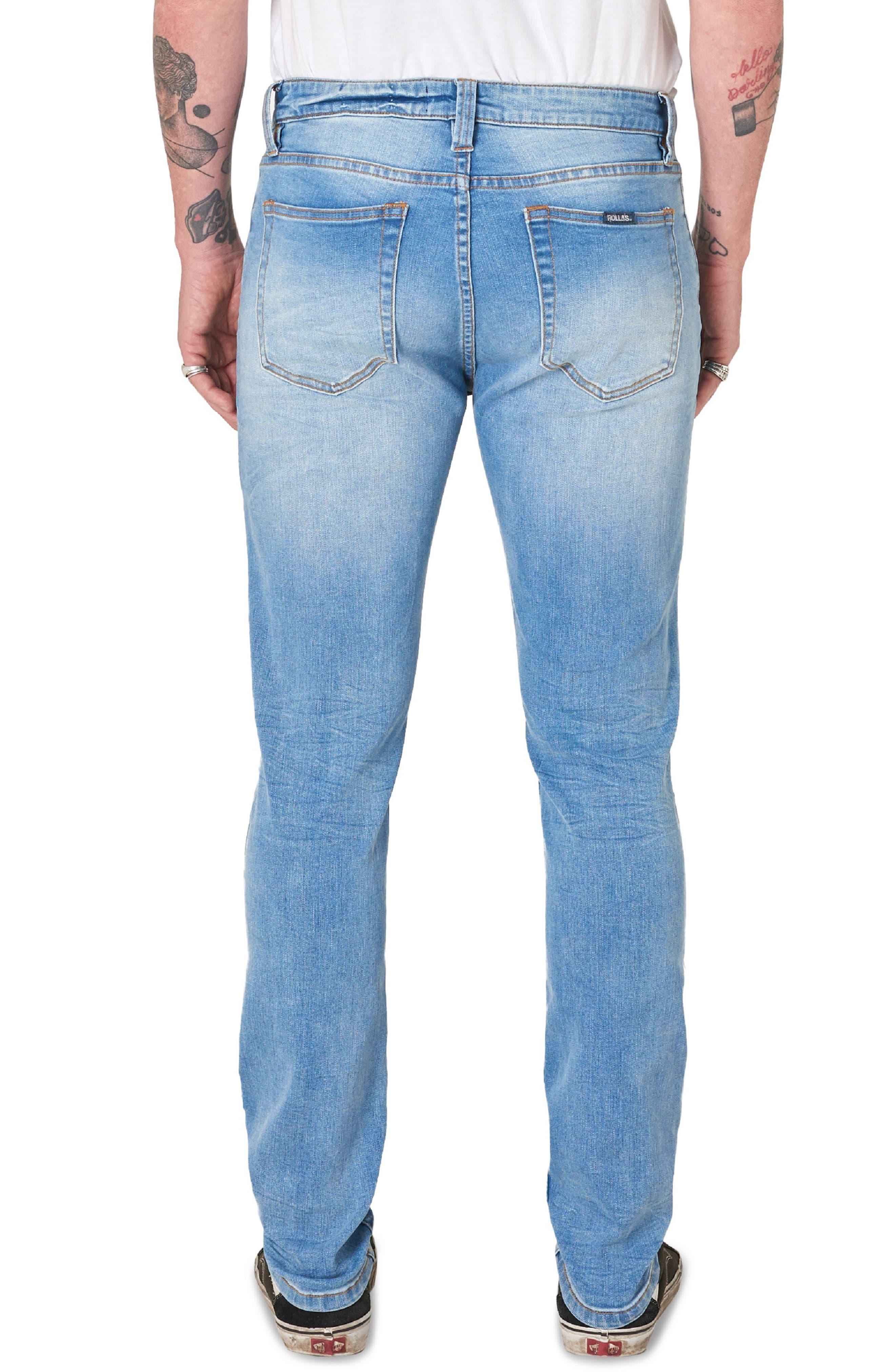 ,                             Stinger Skinny Fit Jeans,                             Alternate thumbnail 2, color,                             AUTHENTIC BLUE