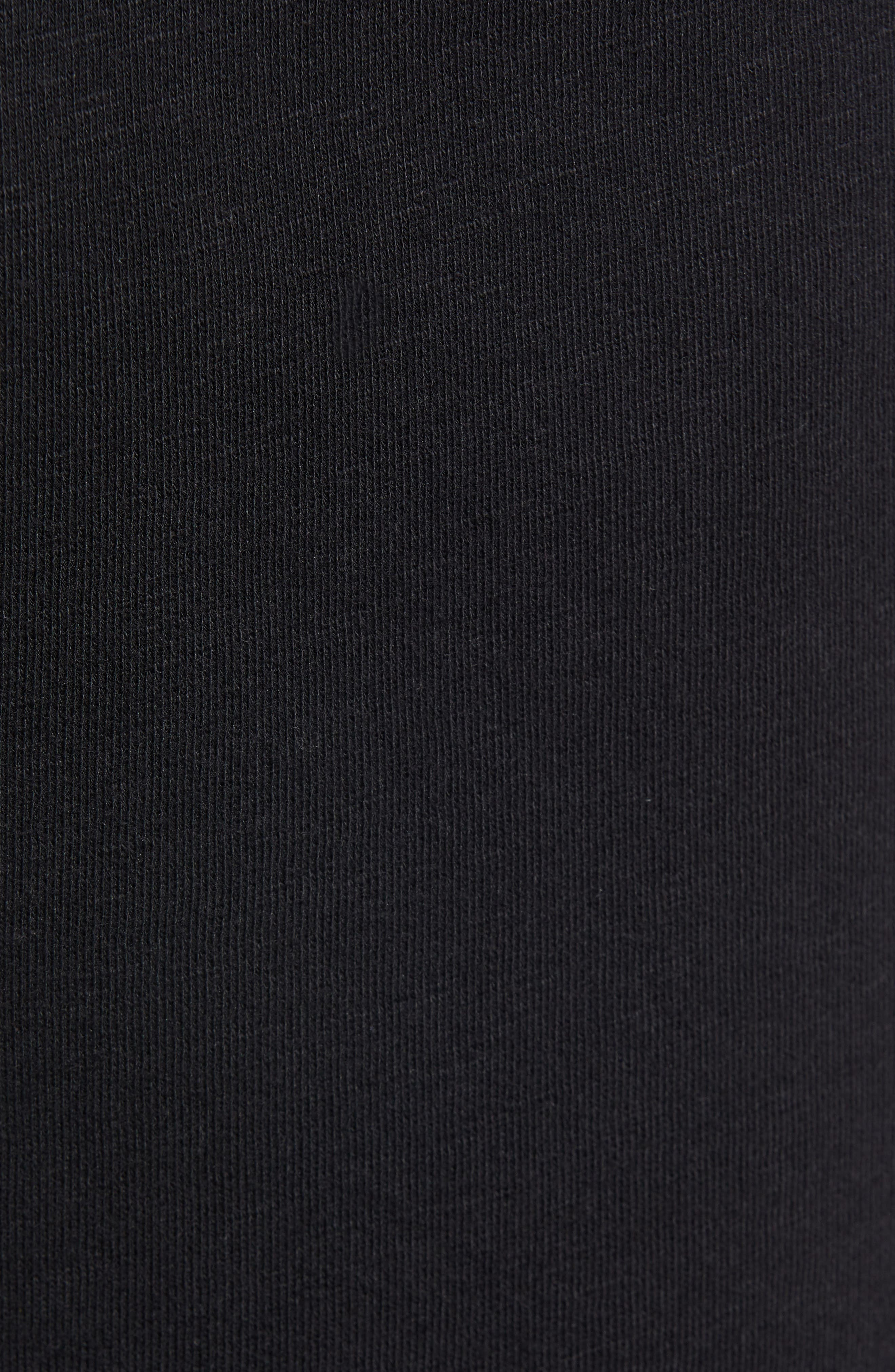 ,                             Terry Athletic Shorts,                             Alternate thumbnail 5, color,                             BLACK ROCK