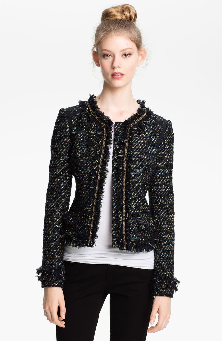 MCGINN 'Cass' Tweed Jacket, Main, color, 410