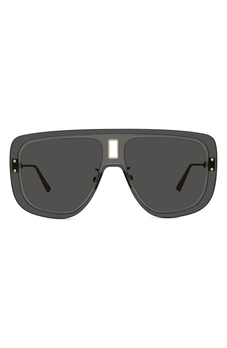 DIOR UltraDior Mask Sunglasses, Main, color, GOLD/ GREY