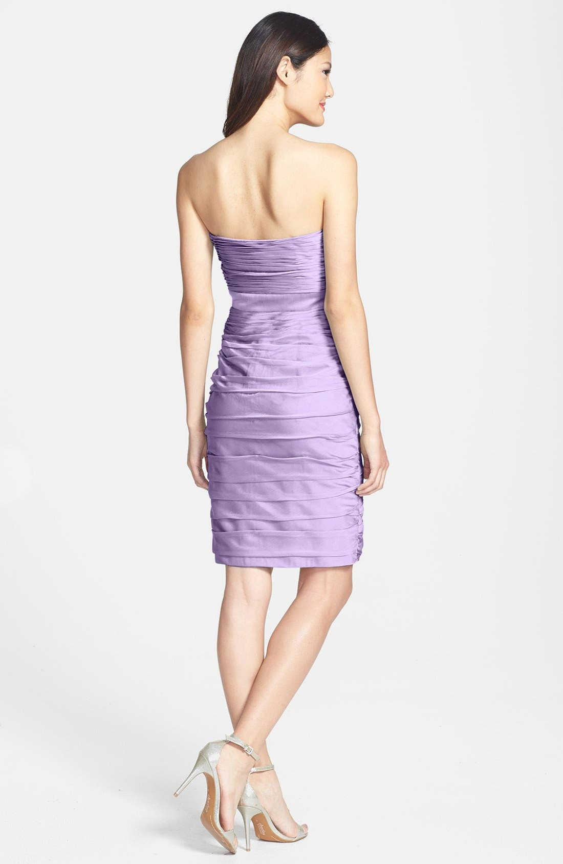 ,                             Ruched Strapless Cationic Chiffon Dress,                             Alternate thumbnail 60, color,                             533