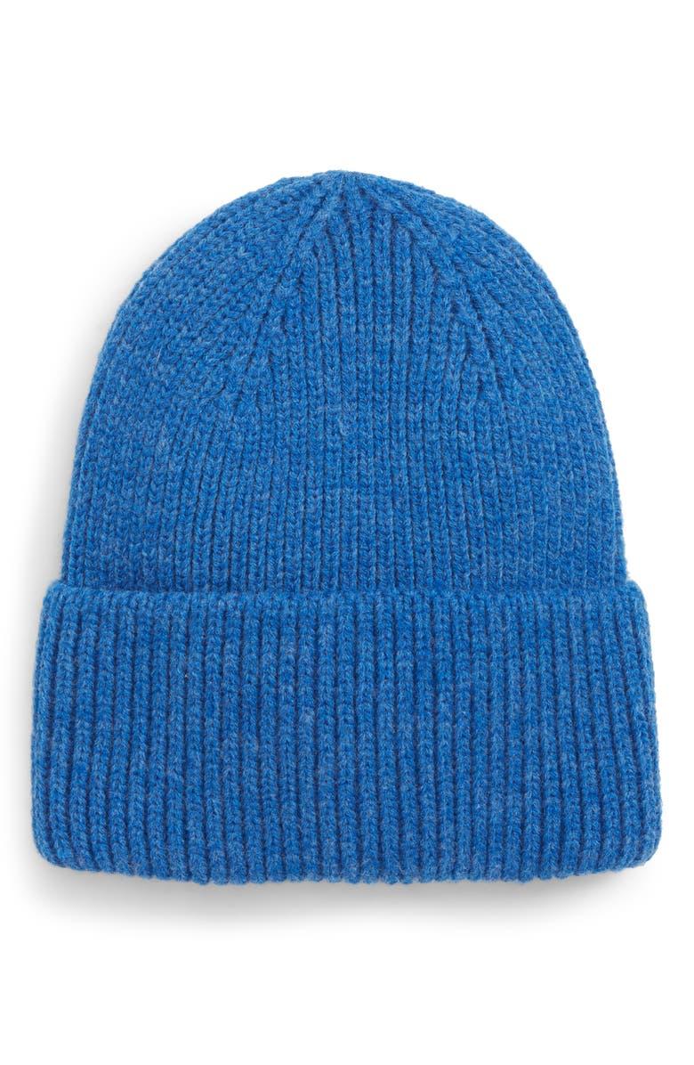 TROUVÉ Cuff Beanie, Main, color, BLUE CAMP