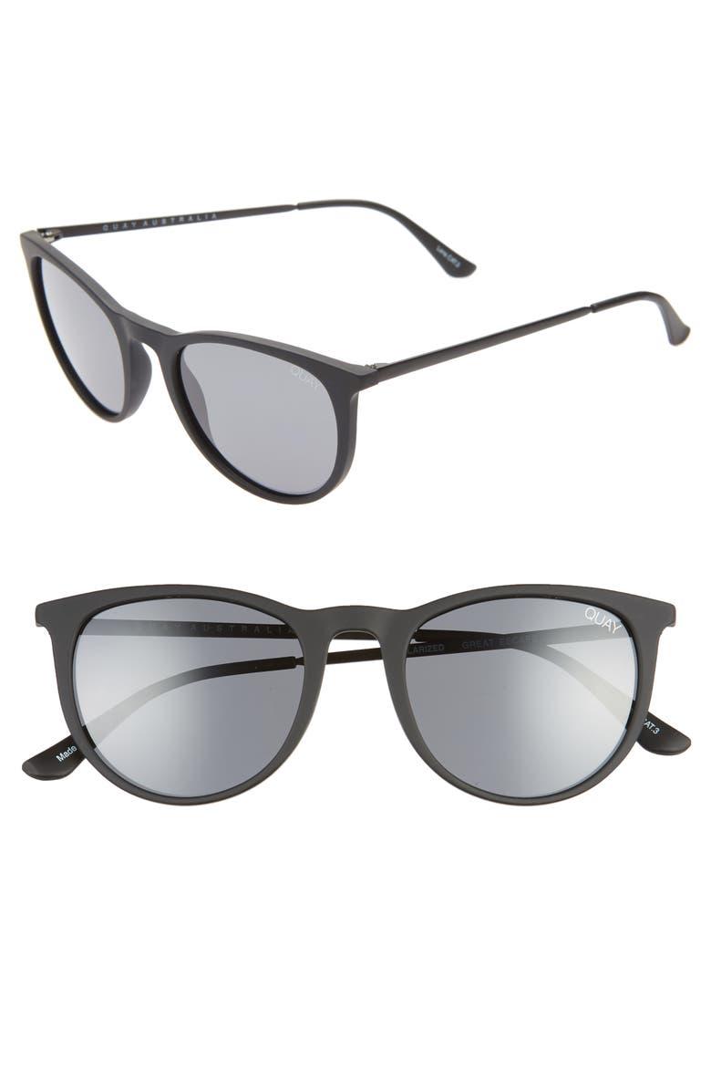 QUAY AUSTRALIA x AROD Great Escape 54mm Sunglasses, Main, color, MATTEBLK/ SMK
