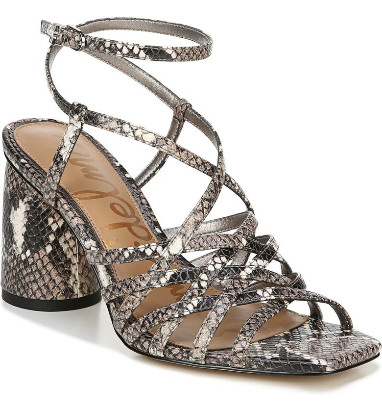 SAM EDELMAN Daffodil Sandal, Main, color, SNAKE PRINT LEATHER