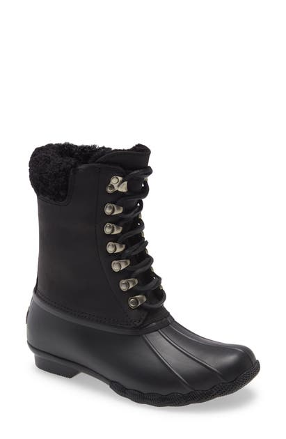 Sperry Lace-ups SALTWATER WATERPROOF BOOT WITH GENUINE SHEARLING LINING