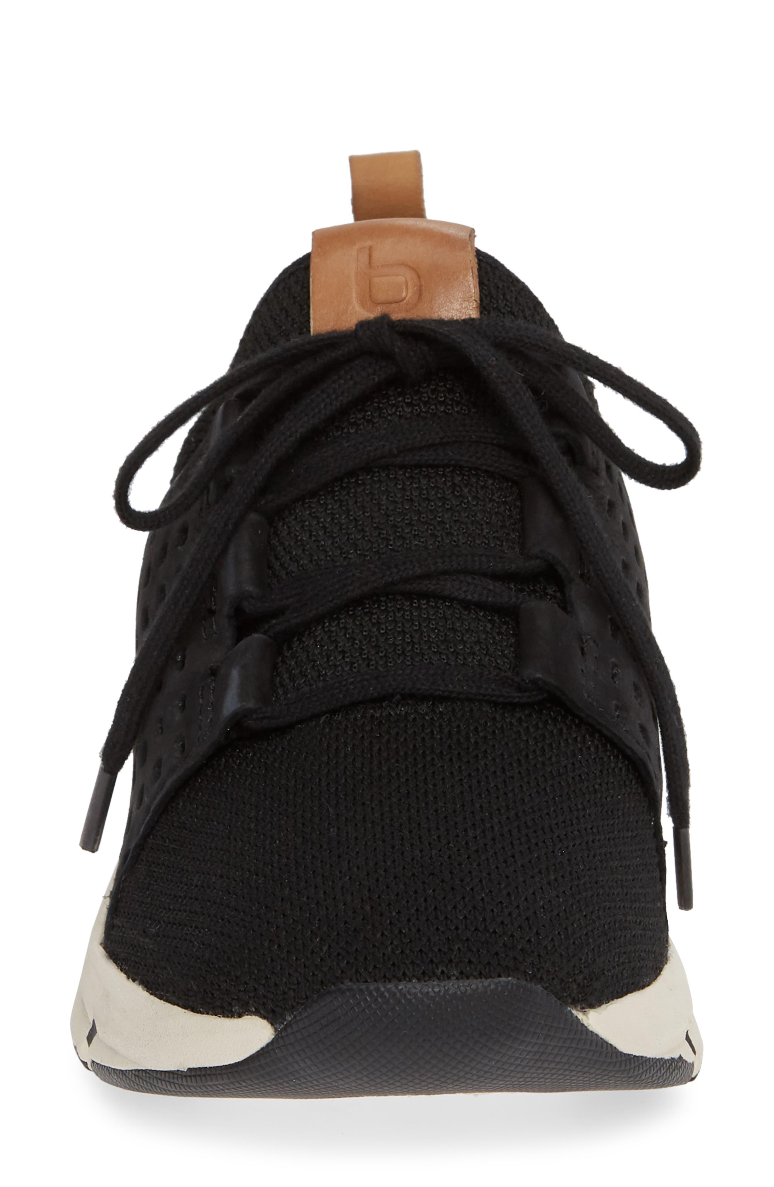 ,                             Orsola Sneaker,                             Alternate thumbnail 4, color,                             BLACK NUBUCK LEATHER