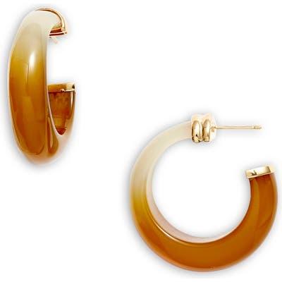 Gas Bijoux Abalone Hoop Earrings