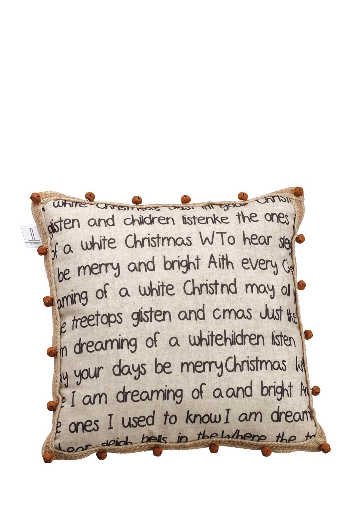 """Image of ALLSTATE 16"""" W x 16"""" L White Christmas Pillow"""