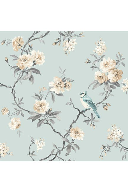 Image of WallPops! Chinoiserie Blue Floral Wallpaper