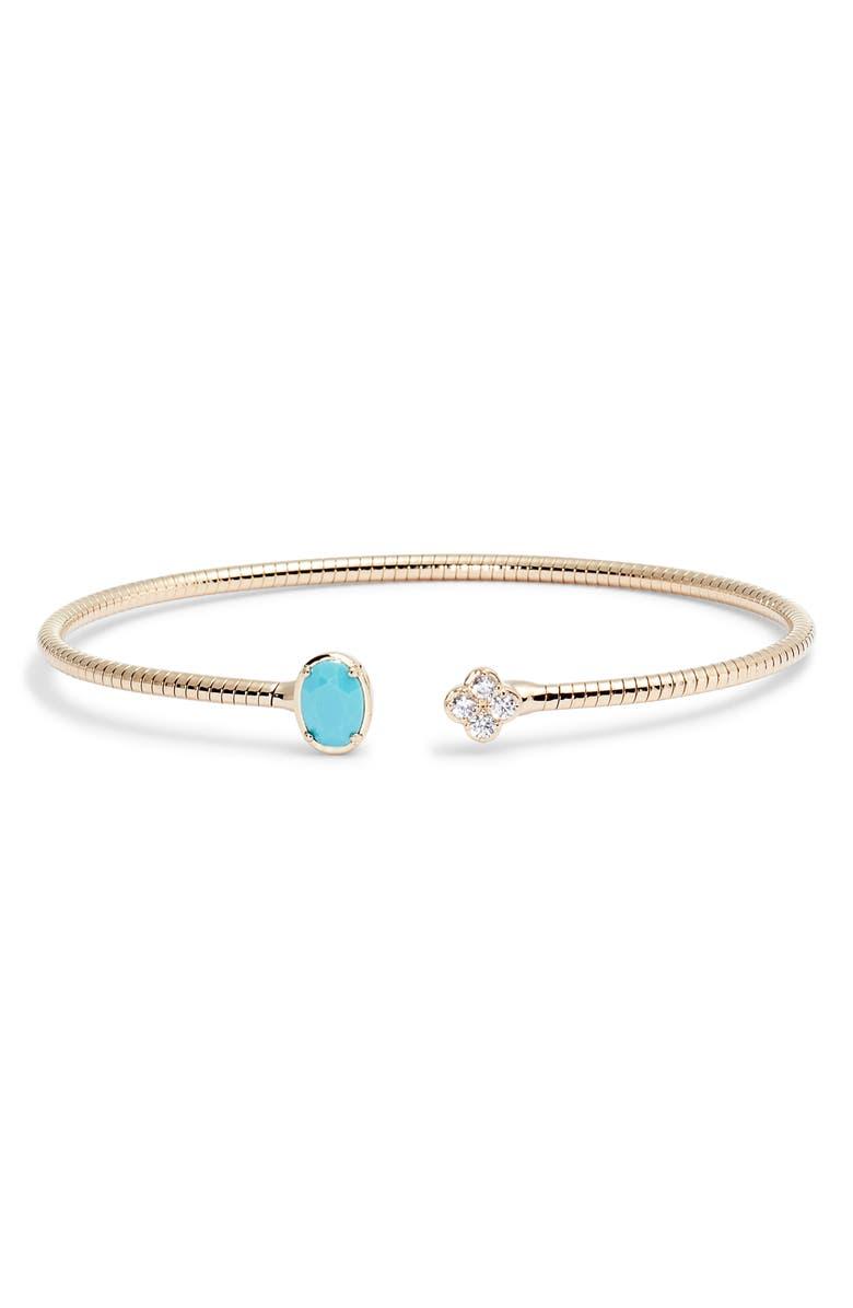 NADRI Gobi Open Flexi Cuff Bracelet, Main, color, 710