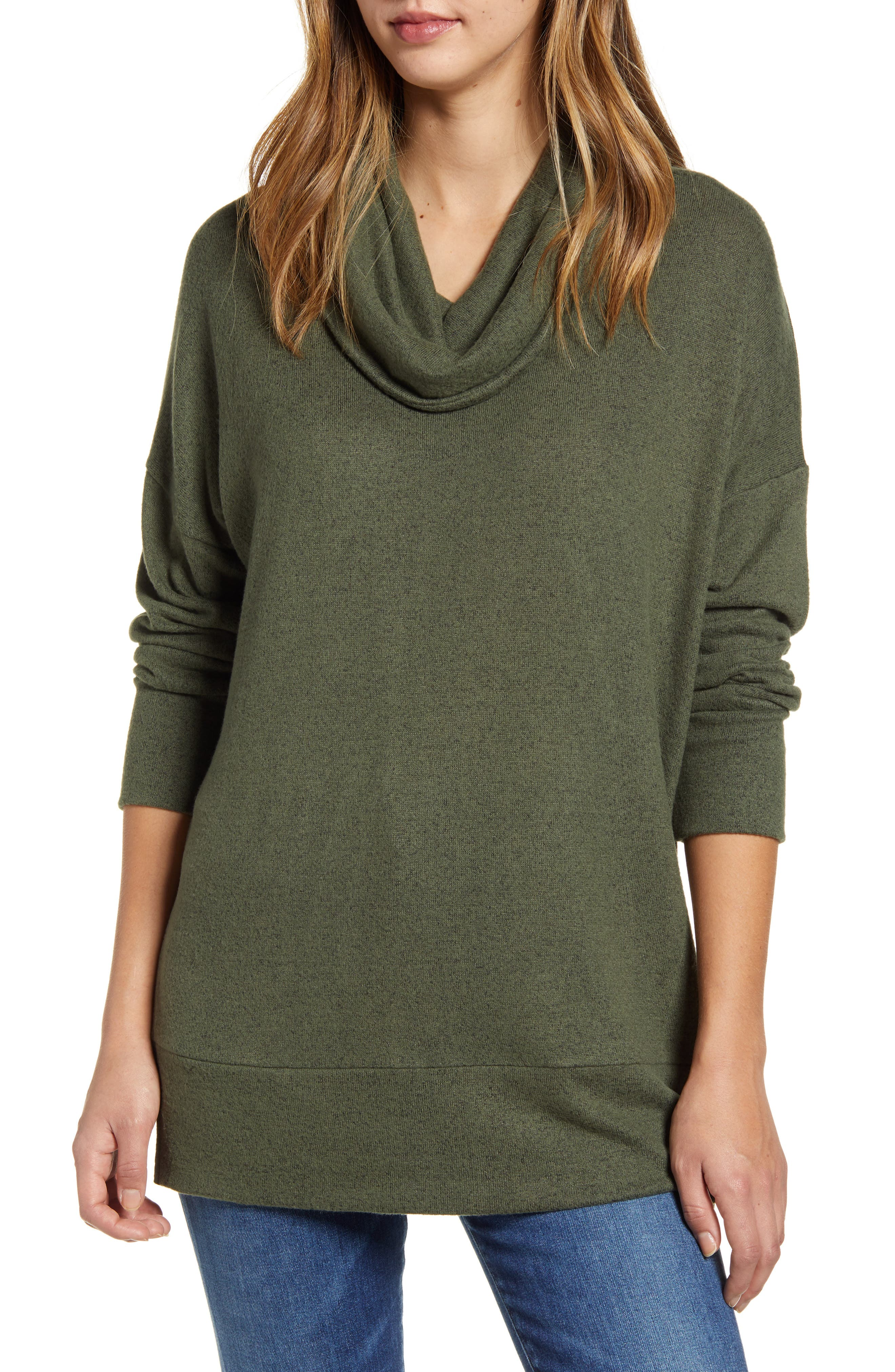 When your schedule calls for nothing but kicking back, do it wearing this cozy, brushed cowl-neck top, cut with side slits for easy movement. Style Name: Loveapella Cowl Neck Long Sleeve Top. Style Number: 5982227. Available in stores.