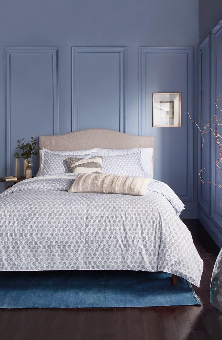 MURMUR LIVING Tile Comforter & Sham Set, Main, color, BLUE