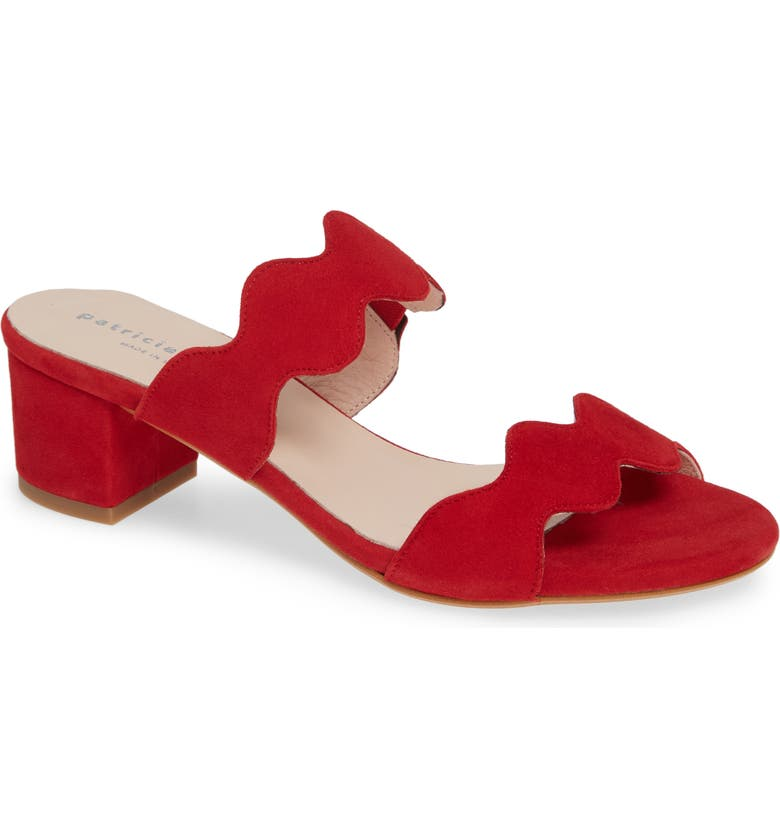 PATRICIA GREEN Palm Beach Slide Sandal, Main, color, RED SUEDE