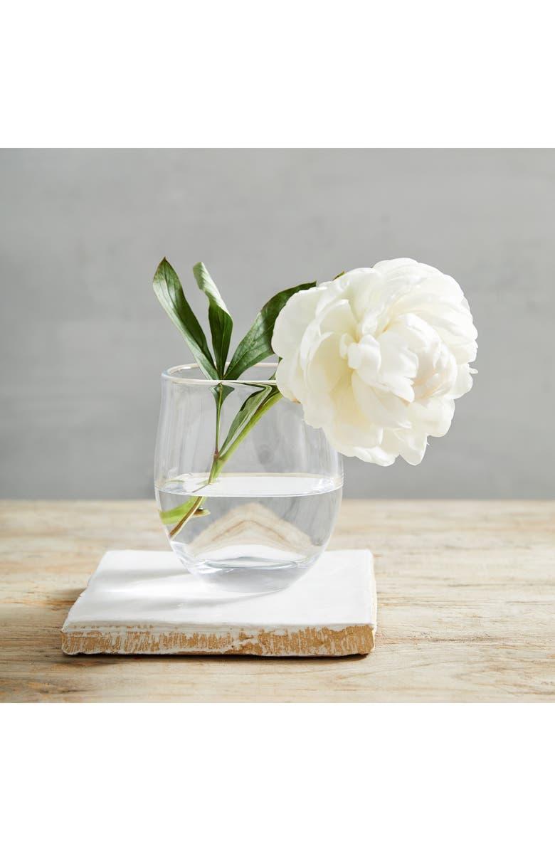THE WHITE COMPANY Small Boston Vase, Main, color, CLEAR