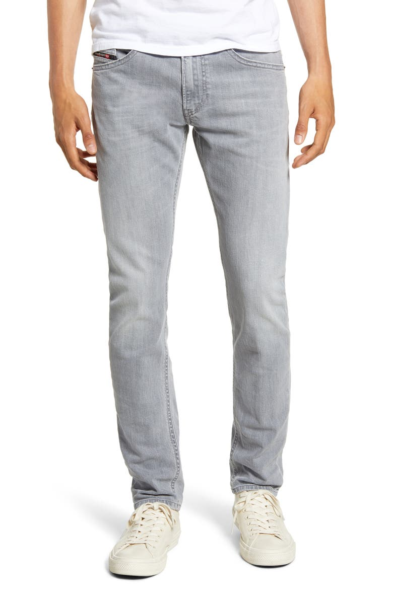 DIESEL<SUP>®</SUP> Thommer Slim Fit Jeans, Main, color, GREY