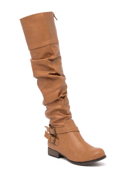Image of Chase & Chloe Maggy Slouch Knee-High Riding Boot