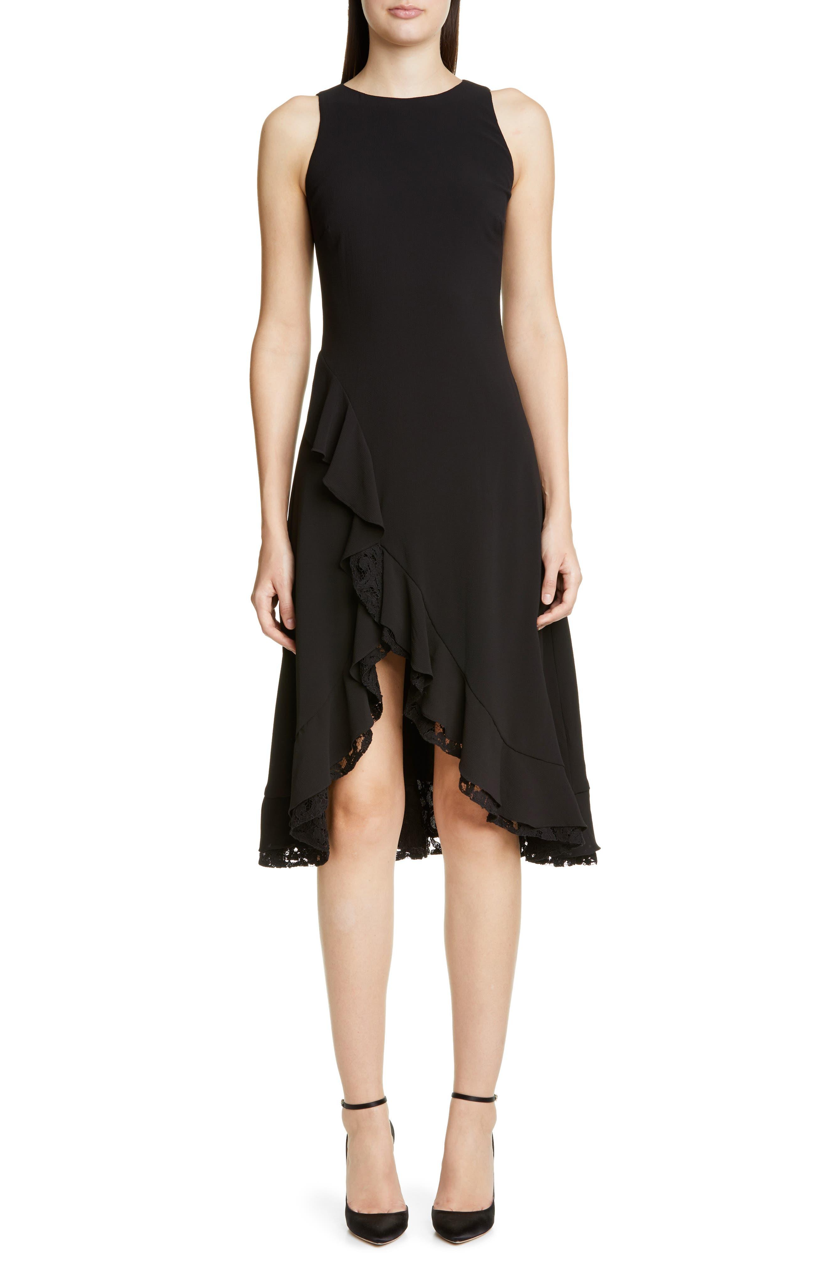 Zac Zac Posen Janice Ruffle Cocktail Dress, Black