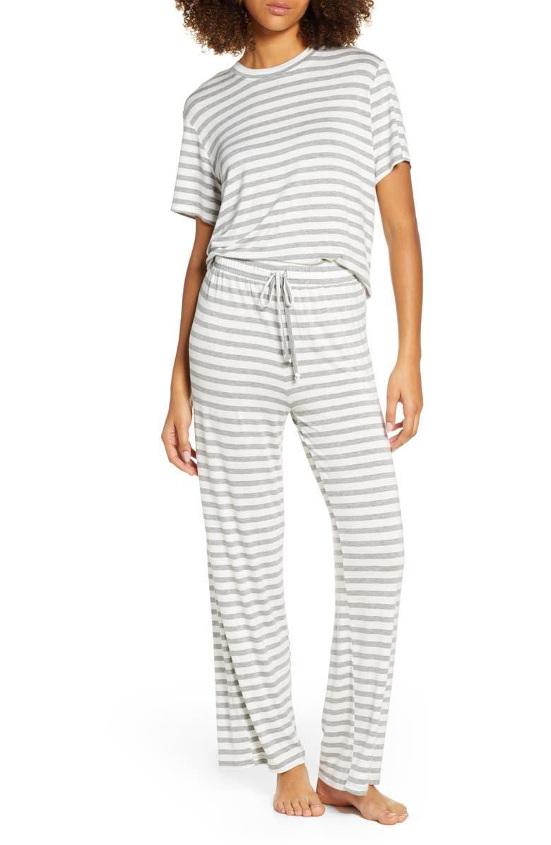 HONEYDEW INTIMATES All American Pajamas, Main, color, IVORY STRIPE