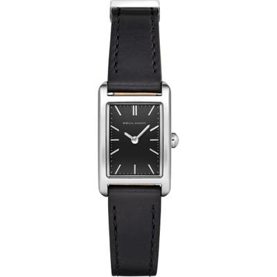 Rebecca Minkoff Moment Faux Leather Strap Watch, 1m Mm