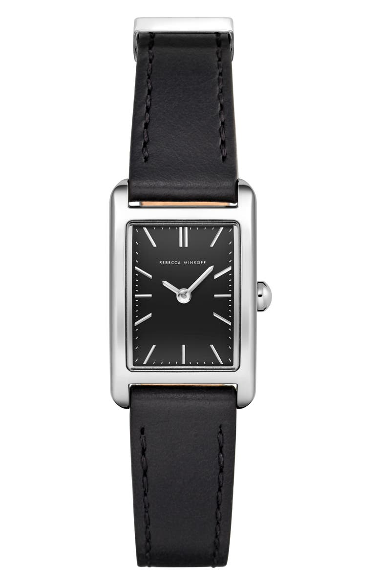 Rebecca Minkoff Moment Faux Leather Strap Watch 19mm X 30mm
