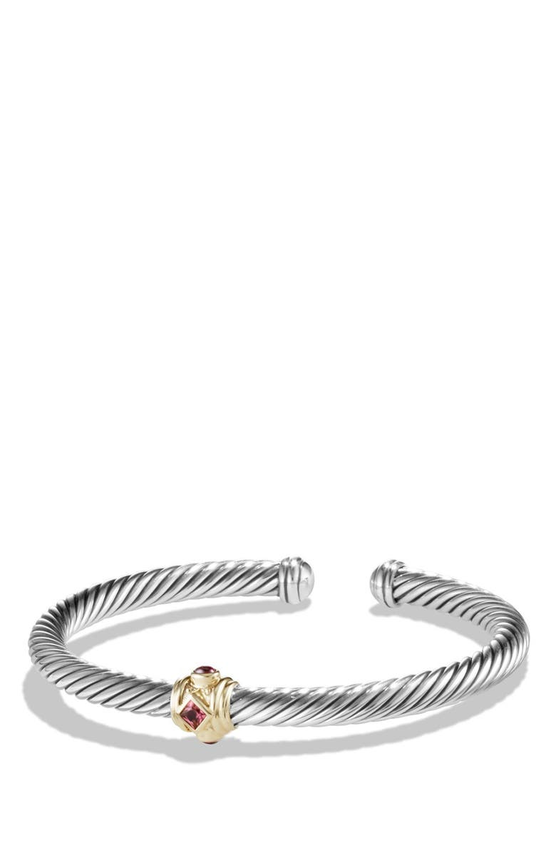 DAVID YURMAN Renaissance Bracelet with Semiprecious Stones & 14K Gold, 5mm, Main, color, PINK TOURMALINE